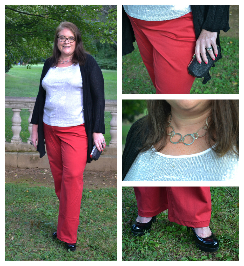 7 ways to wear Red Plus Size Pants Lands End Chino ...