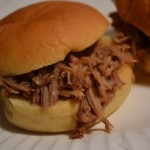 pulled pork sandwiched