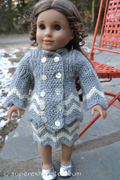 knit sweater for american girl