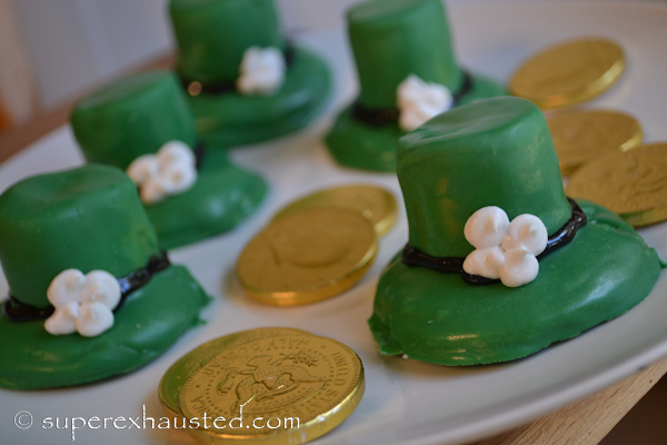 Chocolate Leprechaun Hats cookies