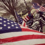flag and motorcycles
