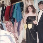 Boy and gilr dreessed fro prom in 1989