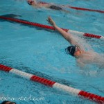 boy doing backstroke